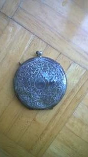 Victorian silver compact case located while metal detecting